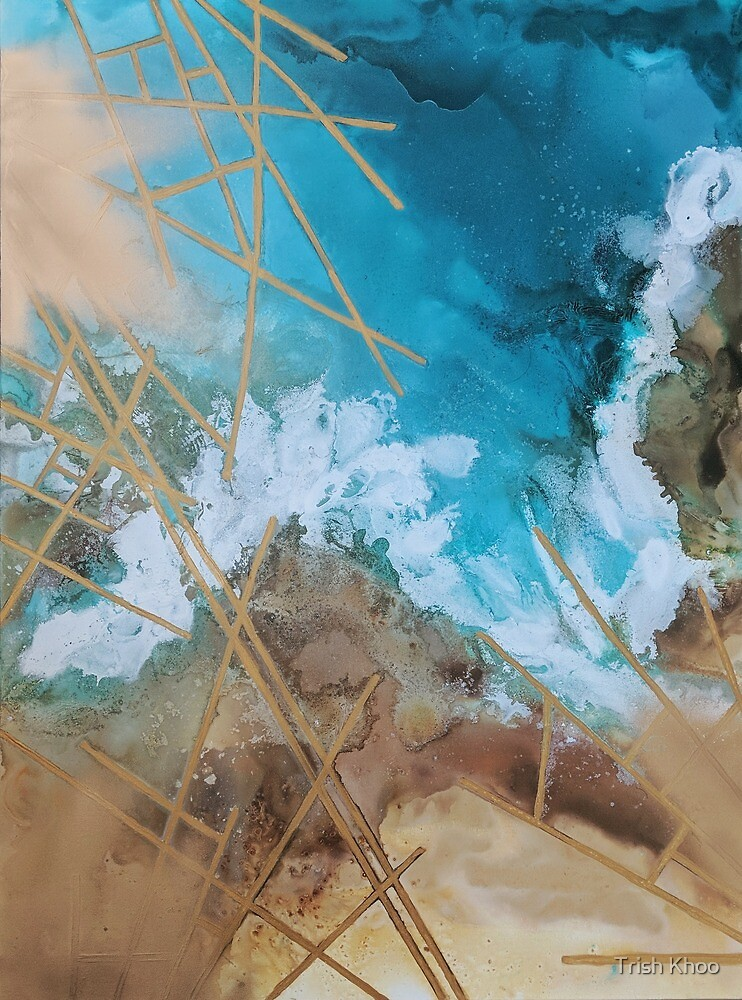 The crash of the ocean by Trish Khoo