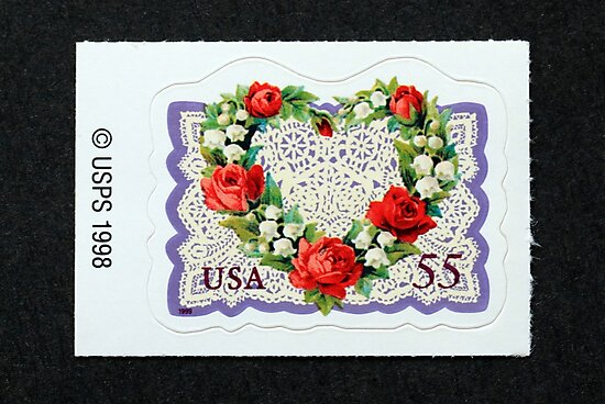 1999 55¢ Victorian Love Postage Stamp by Chris Coates