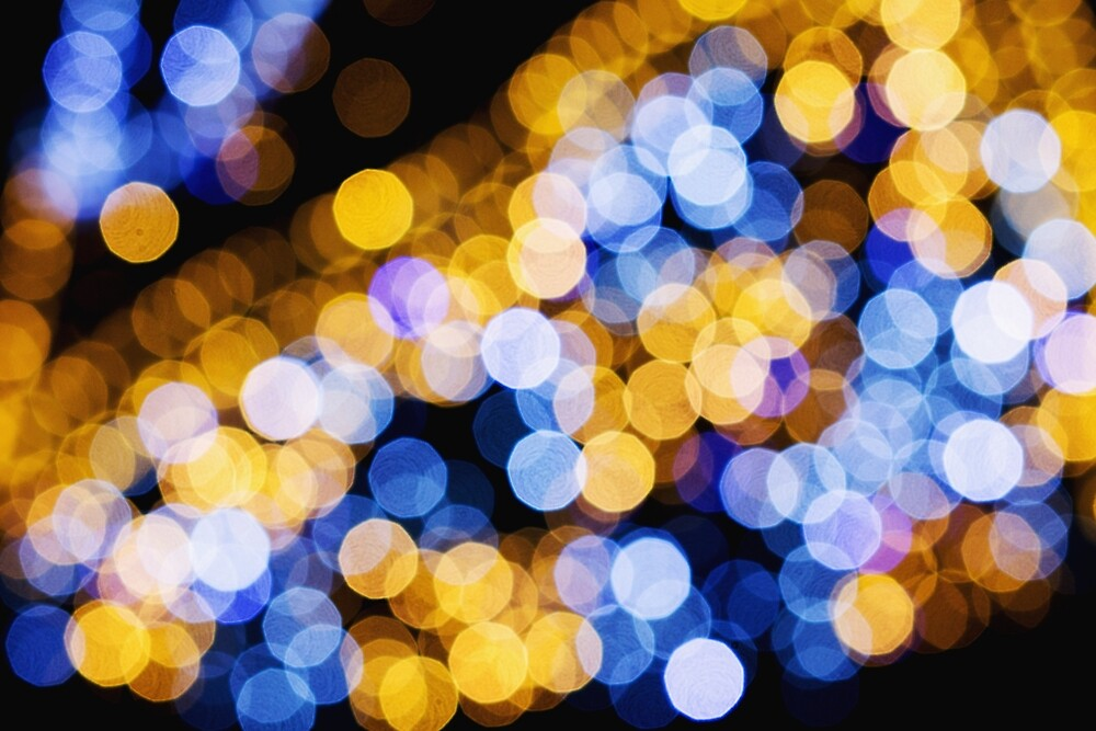 Blue and Yellow Lights by C K