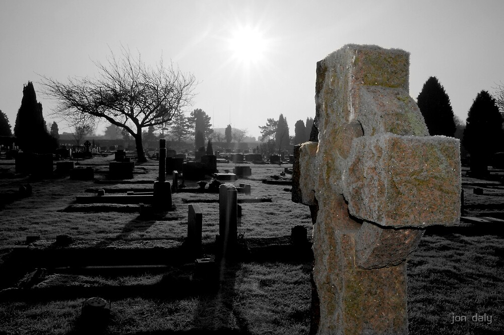 winter graveyard by jon  daly