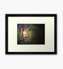 Happy With Mom Framed Print