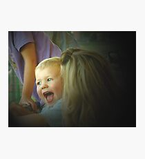Happy With Mom Photographic Print