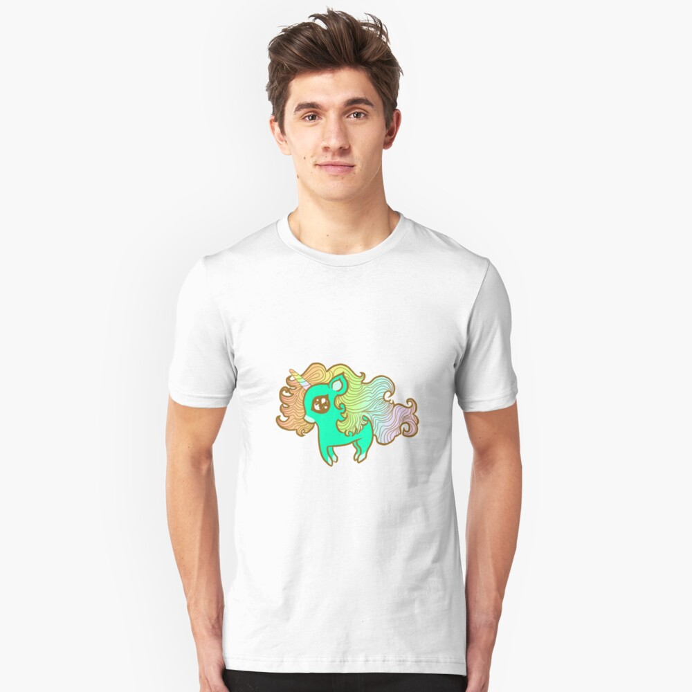 Peppermint Unicorn Unisex T-Shirt Front