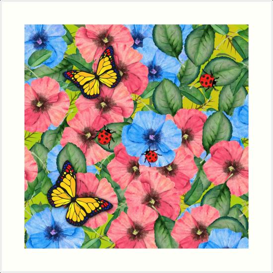 Floral scene by Gaspar Avila