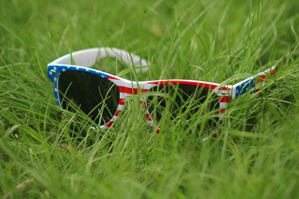 Sunglasses in the Grass by Amanda Sullivan