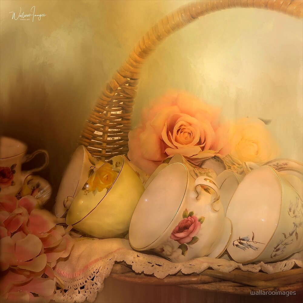 Teacups and Roses 3 by wallarooimages
