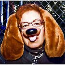 Serious Dog Lady by Mark Ross