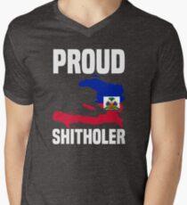 Haiti Proud Haitian Shitholer - Anti Trump Shithole Countries Shirts Men's V-Neck T-Shirt