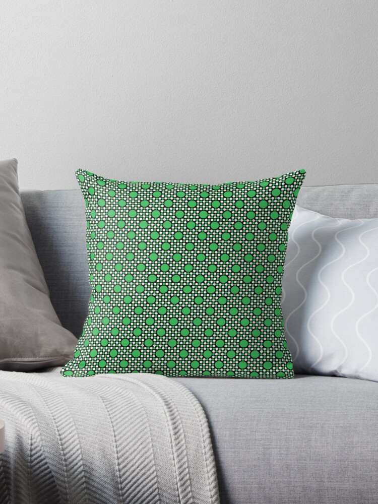 Green Big and Little Dots Retro Pattern by coverinlove
