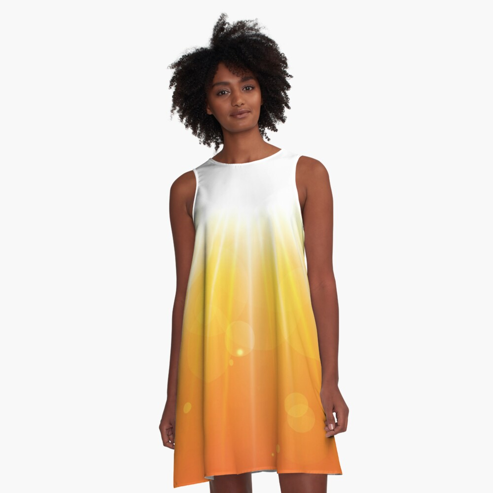 Sunburst Abstract Art A-Line Dress Front