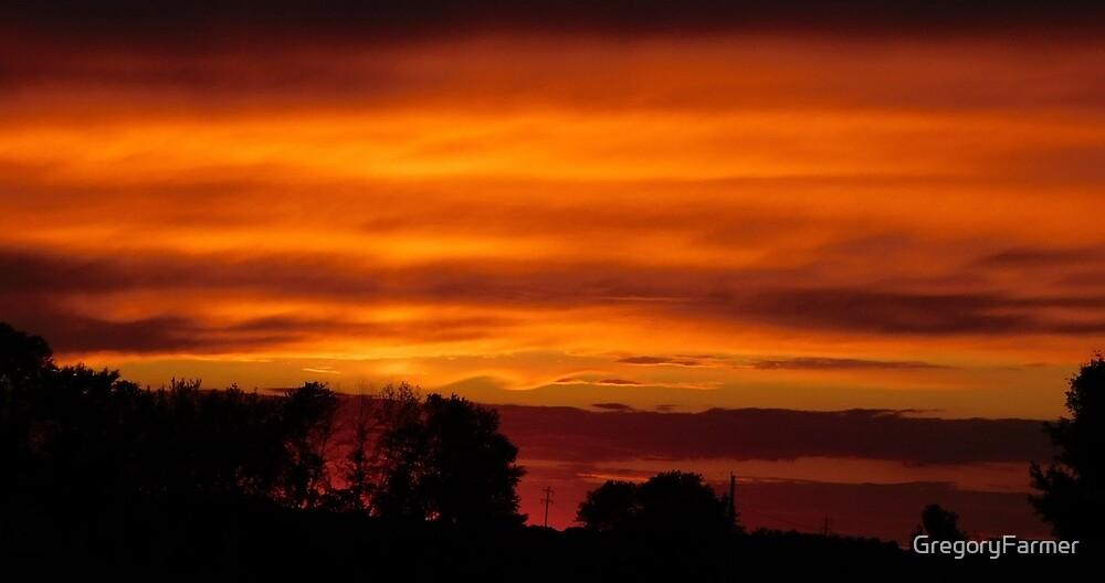 Firestorm sunset by GregoryFarmer