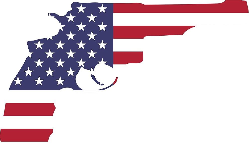 American Flag Gun by Chocodole