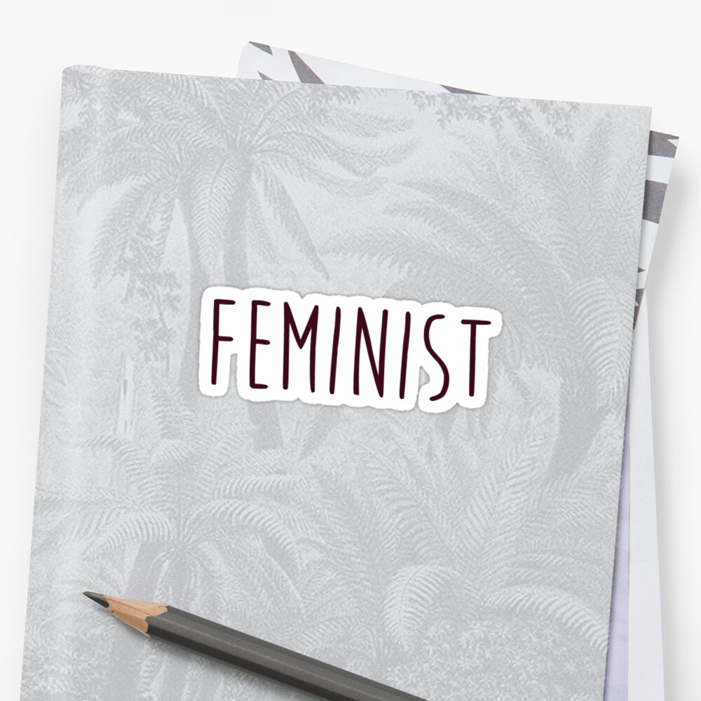 Simple Feminist Sticker by Jackie Sullivan