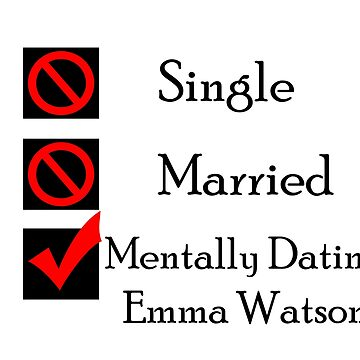 Mentally Dating Emma Watson by wasabi67