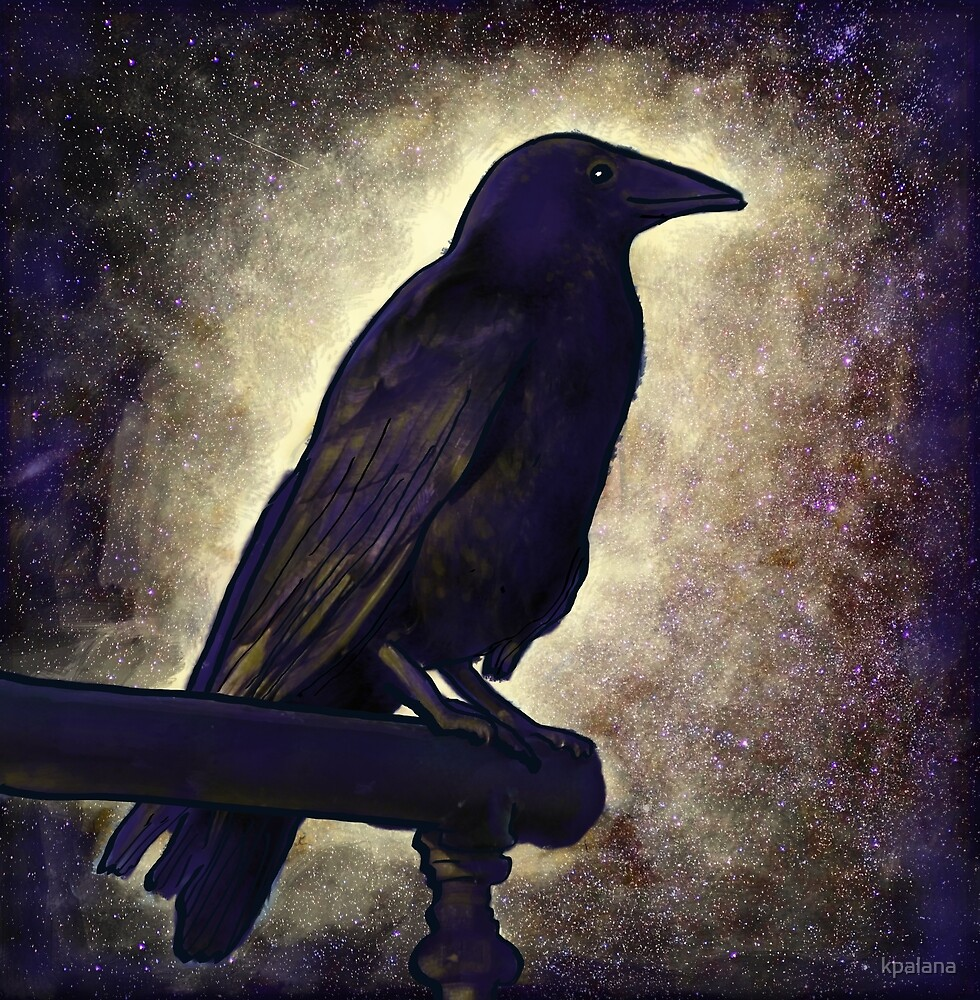 Black Raven of Love and Peace by Kristen Palana