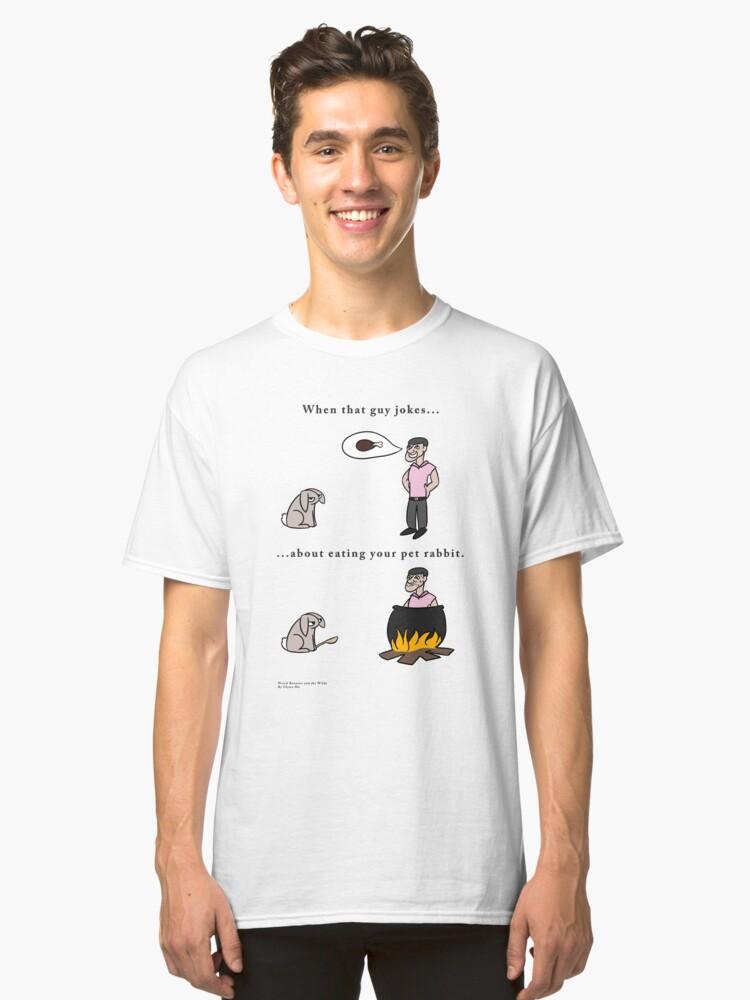 Bad Rabbit Jokes Classic T-Shirt Front