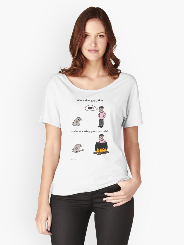 Bad Rabbit Jokes Women's Relaxed Fit T-Shirt Front