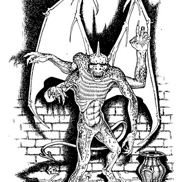 Dungeons & Dragons Gargoyle by subatomic09