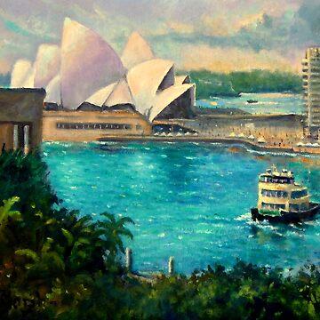 Opera House, Sydney Harbour by marshstudio