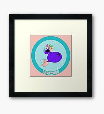 Capricorn - in Salmon Pink with Title Framed Print