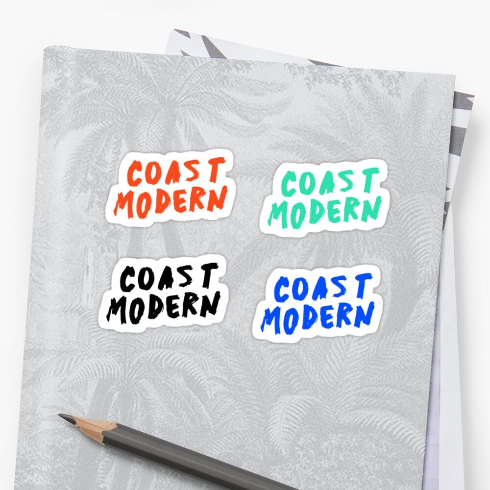 Coast Modern Stickers by yourlocalltyler
