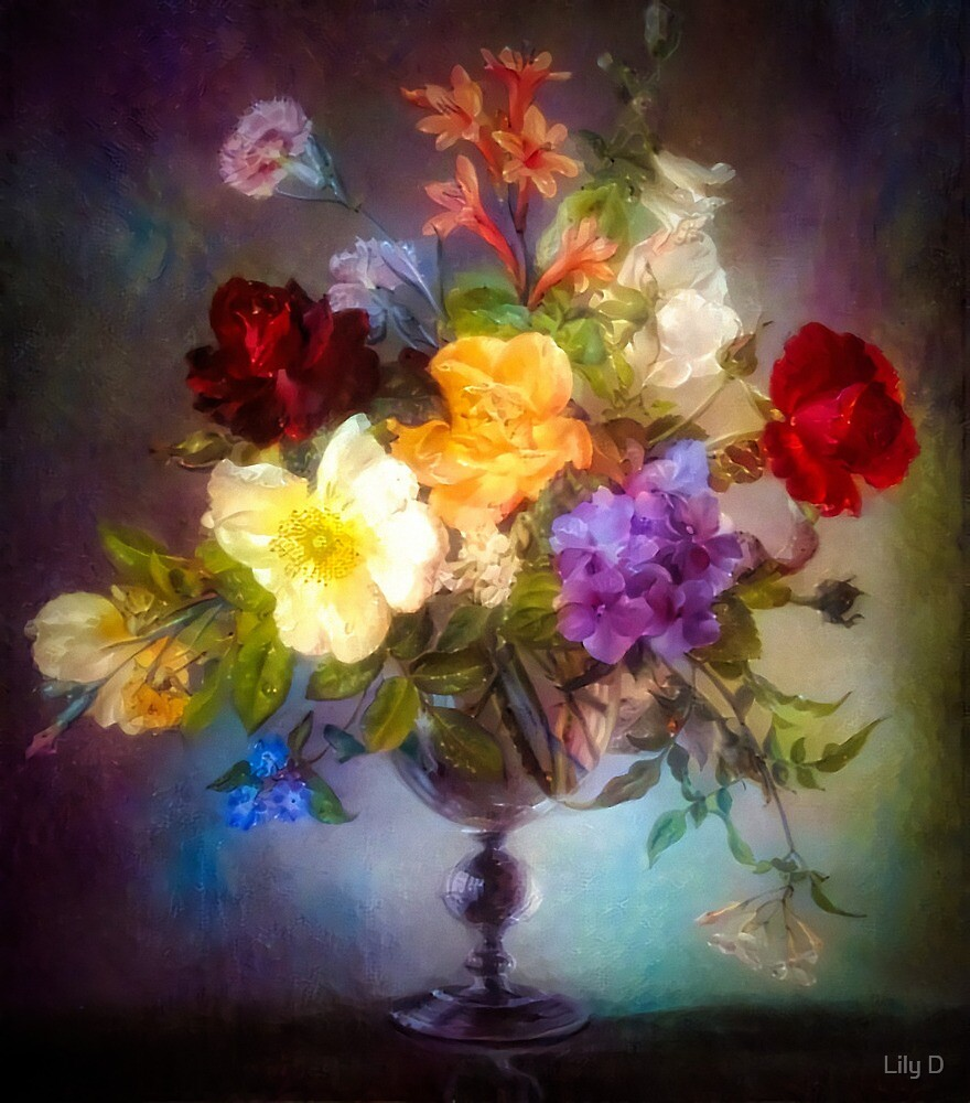 Floral glowing composition by Art Dream Studio