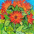 Gerbera Daisies by marlene veronique holdsworth