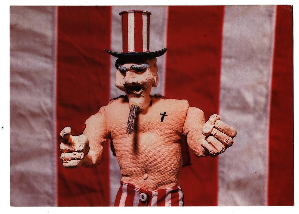 Uncle Sam Jr. gallery invite, 1999 by Sam Dantone