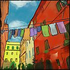 Laundry in Trastevere by Kristen Palana