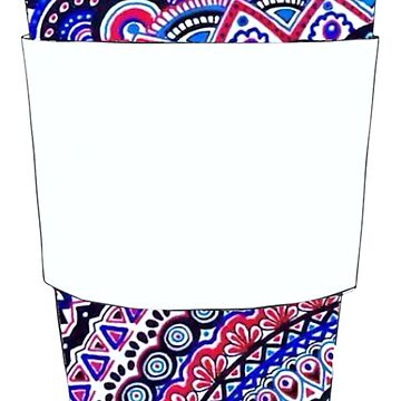 Coffee Cup with Colorful Mandala Pattern by cea010