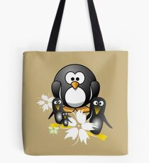 The Penguins Original Hawaiian Style Design, Cute, Floral, Tropical Tote Bag