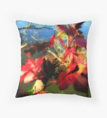 Red Over Water Throw Pillow