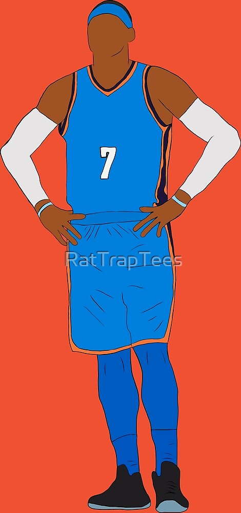 Carmelo Anthony OKC by RatTrapTees
