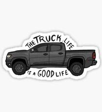Pegatina brillante La vida del camión es una buena vida (Chevy Colorado)