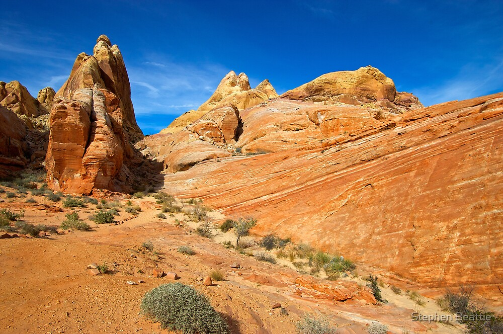 Brilliant Rock and Blue Sky by Stephen Beattie