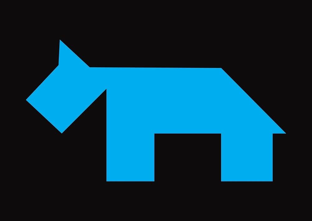 Blue dog Tangram by namormai