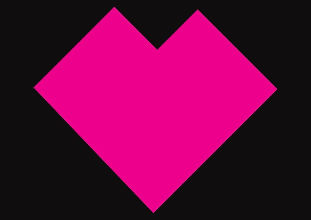 Pink heart Tangram by namormai