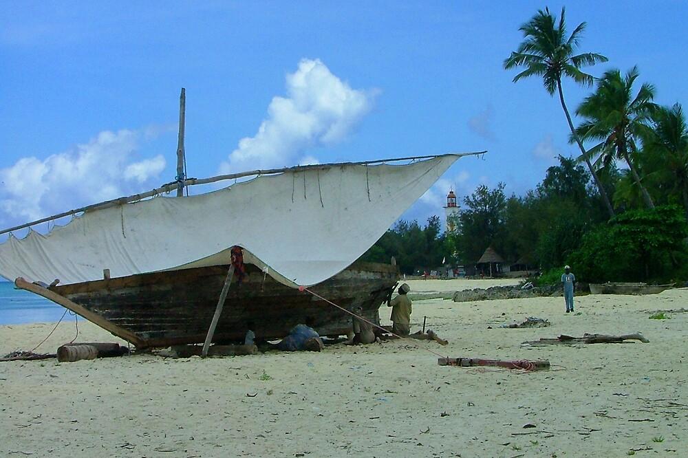 Zanzibar boatbuilders by jardin