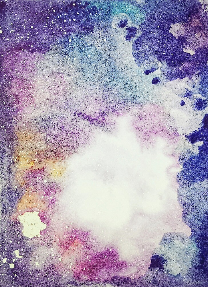Pastel Watercolor Galaxy Painting by Sutherlandh