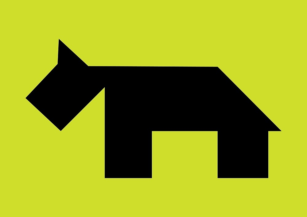 Black dog Tangram by namormai