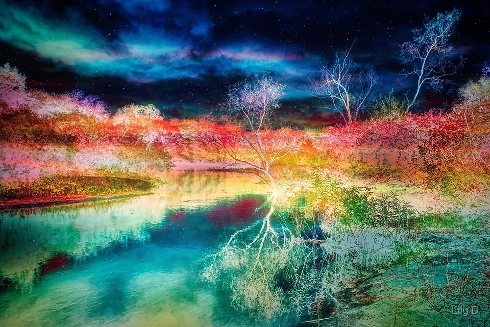 Infrared landscape 3 by Art Dream Studio