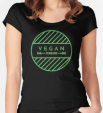 VEGAN FOREVER Women's Fitted Scoop T-Shirt