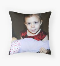 Zoie & Christmas Baby Throw Pillow