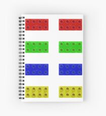 Red, Green, Yellow And Blue Lego Spiral Notebook