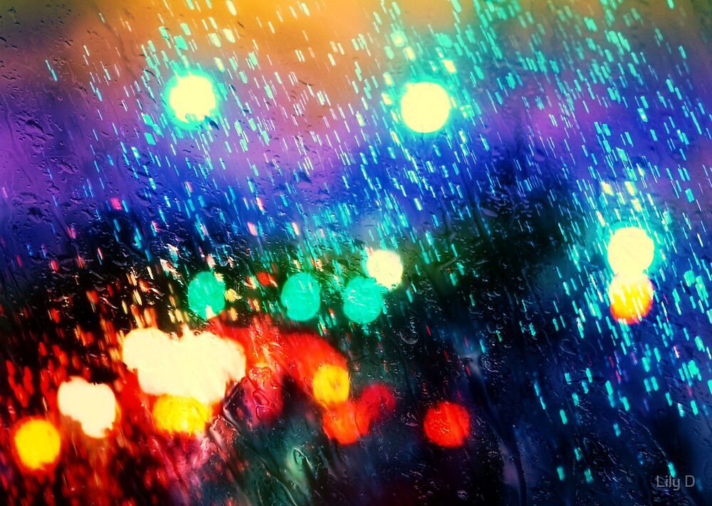 Rainy city light by Art Dream Studio