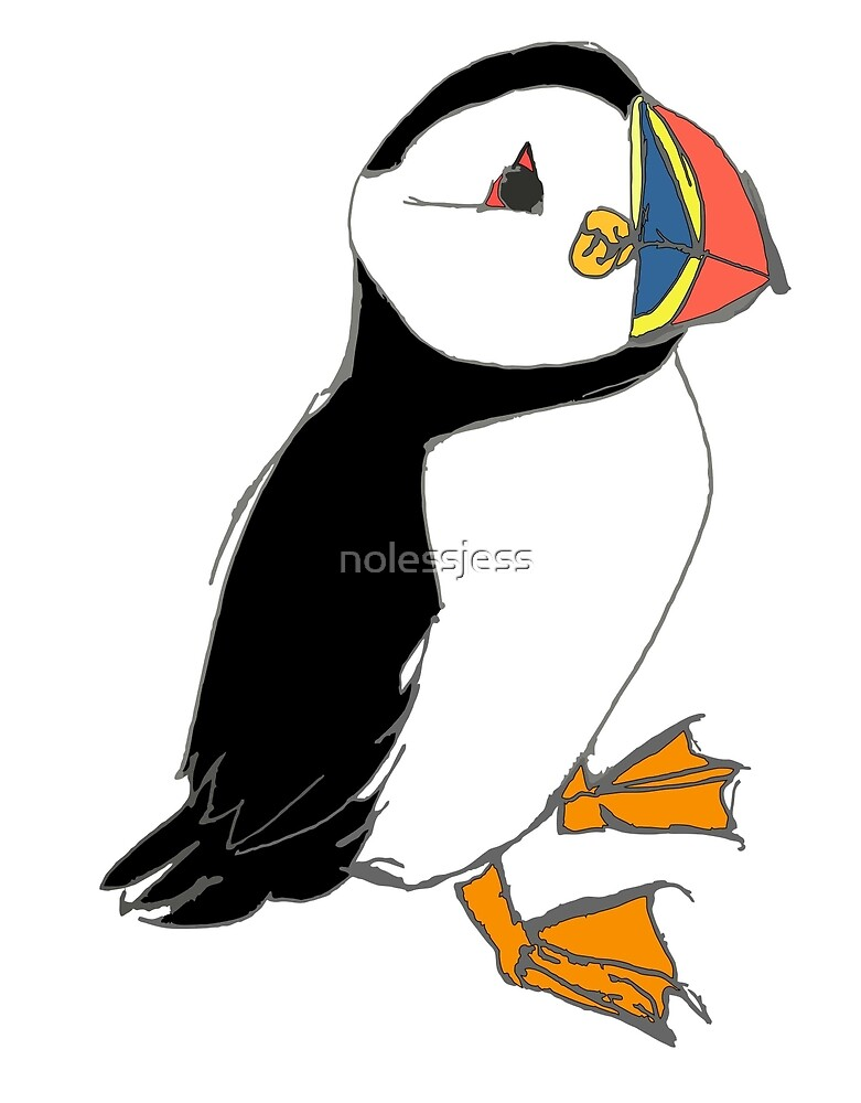 Puffin 1 coloured by nolessjess
