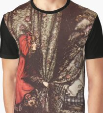 Hansel & Grethel & Other Tales by Grimm Wilelm and Jacob art by Arthur Rackham 0169 Red Riding Hood What Big Ears You Have Grandmother Graphic T-Shirt