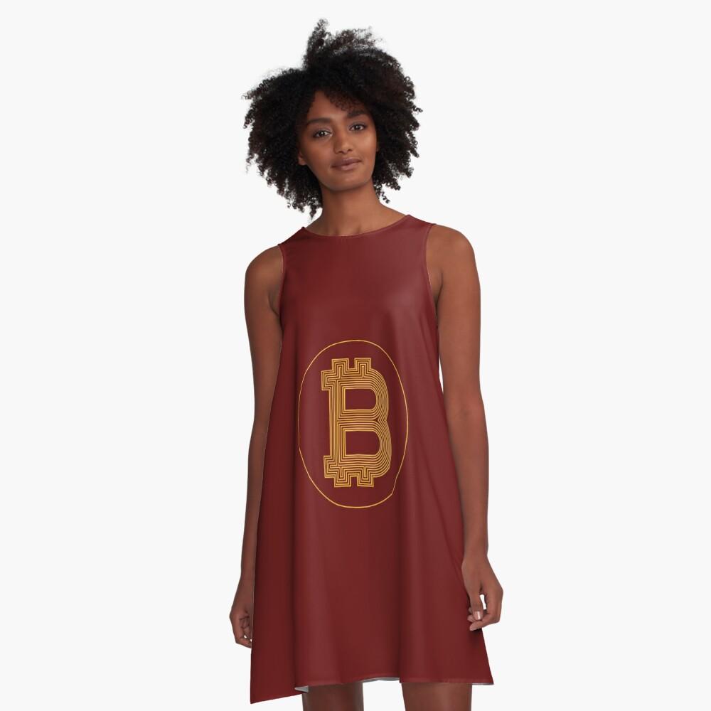 Amazing BitCoin LogoArt A-Line Dress Front
