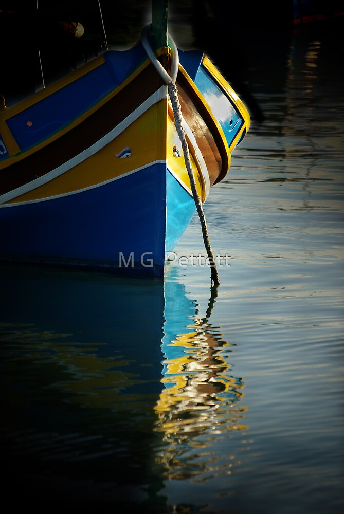 Fishing boat reflections by M G  Pettett