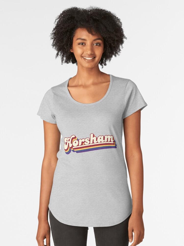 Horsham, VIC | Retro Rainbow Women's Premium T-Shirt Front